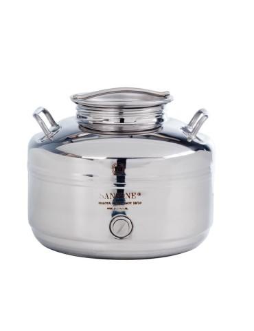Fut inox 10 litres sansone