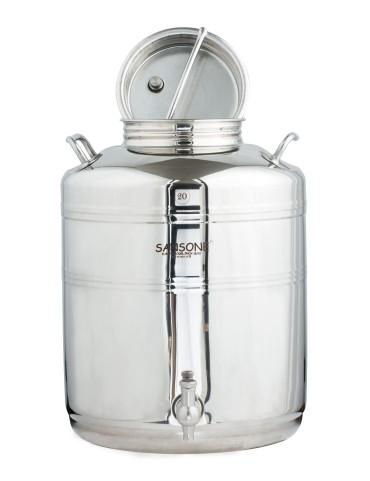 Fût inox 20L avec robinet...