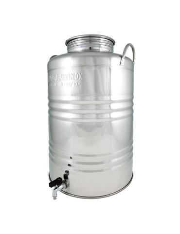 Fût inox 50L avec robinet...