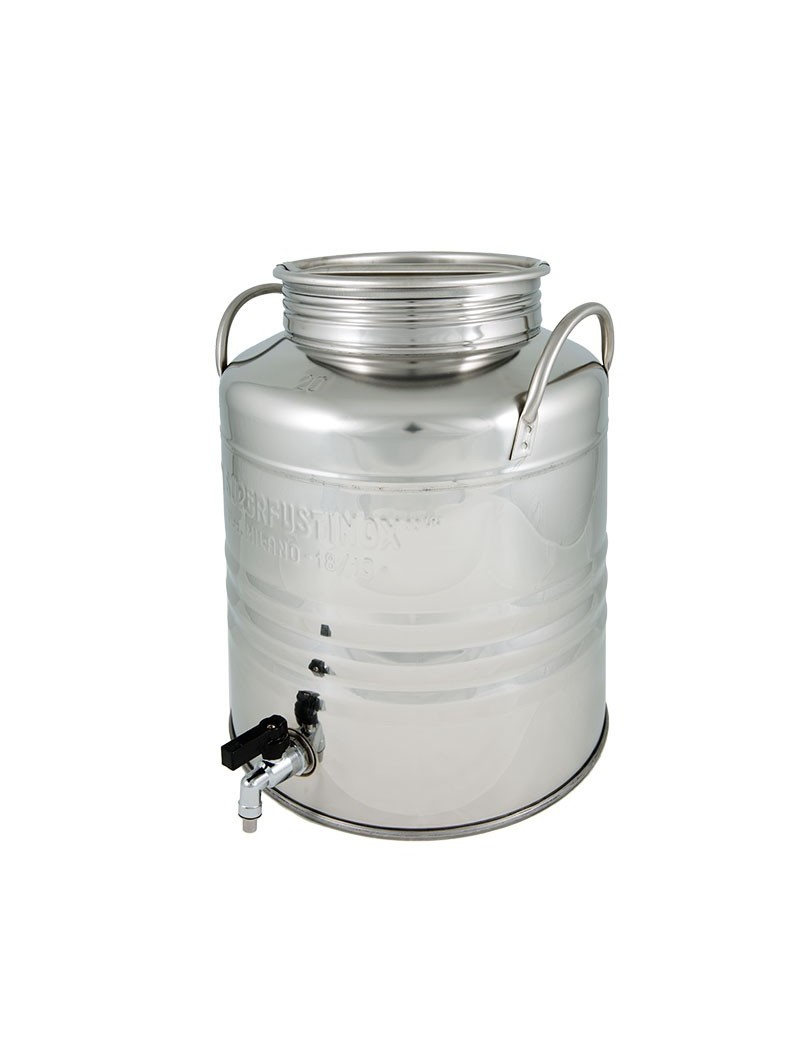 Fût inox 20L avec robinet anti-goutte Superfustinox